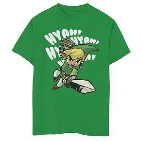 Boys 8-20 Nintendo Zelda Wind Waker Hyah Tee