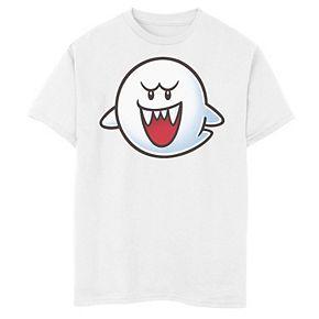 Boys 8-20 Nintendo Super Mario Boo Face Tee