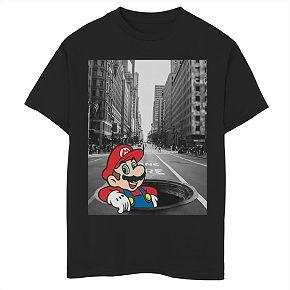 Boys' 8-20 Nintendo Super Mario Street Thinker Graphic Tee