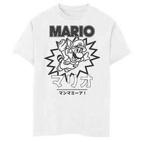 Boys' 8-20 Nintendo Mario Kanji Graphic Tee