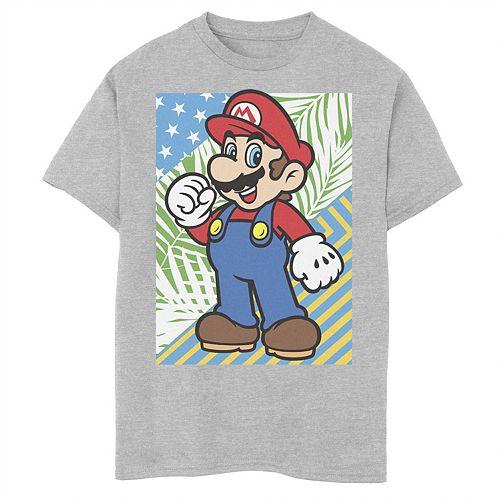 Boys' 8-20 Nintendo Mario Flag Graphic Tee