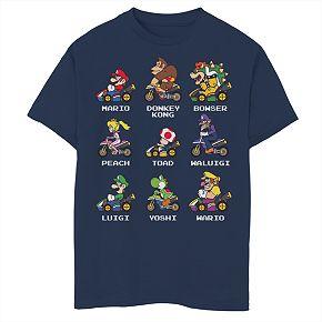 Boys' 8-20 Nintendo Mario Kart 8 Kart Racers Graphic Tee