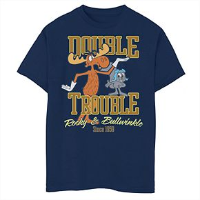 Boys' 8-20 Rocky & Bullwinkle Double Trouble Graphic Tee