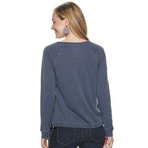 Women's SONOMA Goods for Life? Cinched Hem Pullover Sweatshirt