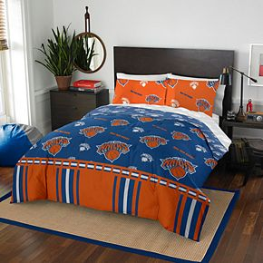 New York Knicks NBA 864 Rotary Queen Bedding Set by Northwest