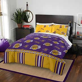 Los Angeles Lakers NBA 864 Rotary Queen Bedding Set by Northwest