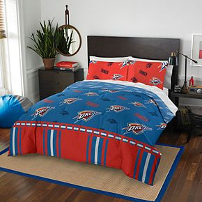 Oklahoma City Thunder NBA 864 Rotary Queen Bedding Set by Northwest