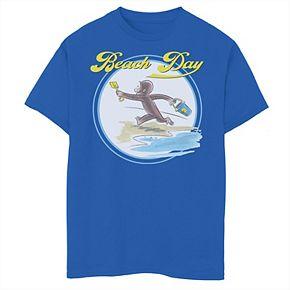 Boys' 8-20 Curious George Beach Day Graphic Tee