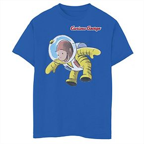 Boys' 8-20 Curious George Space Graphic Tee