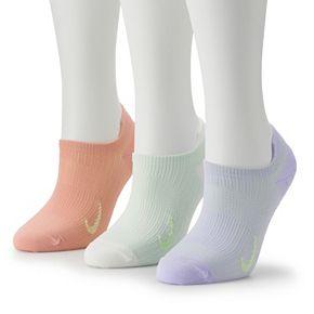 Women's Nike Everyday Plus 3-Pair Lightweight Pastel Training No-Show Socks