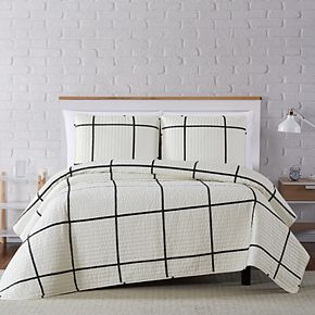 Truly Soft Kurt Windowpane Quilt Set