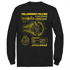Men's Star Wars Falcon Schematic Graphic Tee