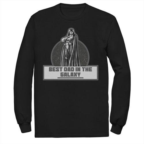 e93d7df6 Men's Star Wars Galaxy Dad Long-Sleeve Tee