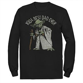 "Men's Star Wars ""Yoda Best Dad Ever"" Dad Graphic Tee"
