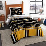 Pittsburgh Penguins NHL Twin Bedding Set by Northwest