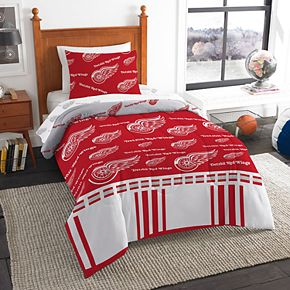 Detroit Red Wings NHL Twin Bedding Set by Northwest