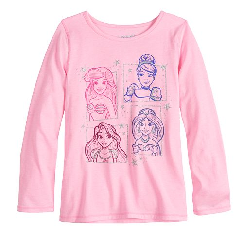 Disney Princesses Girls 4-12 Adaptive Graphic Tee by Jumping Beans®