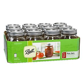 Ball Collection 12-pc. Regular-Mouth 16-oz. Glass Mason Jar Set