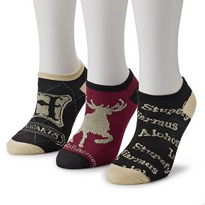Women's Harry Potter Advanced Wizardry 3-Pack Ankle Socks