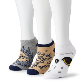 "Women's Harry Potter ""I Solemnly Swear"" 3- Pack Ankle Socks"