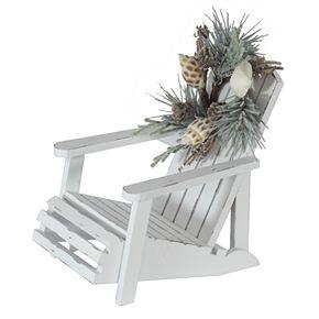 St. Nicholas Square® Wooden Beach Chair Sitabout Decor