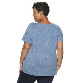 Plus Size Croft & Barrow Knot-Front Top
