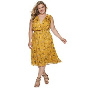 Plus Size Suite 7 Smocked Midi Dress