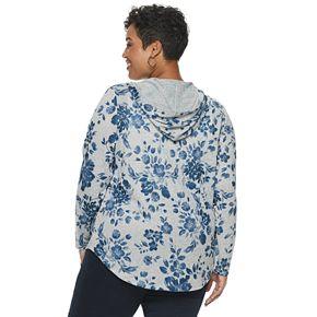 Plus Size Croft & Barrow® Zip-Front Hoodie