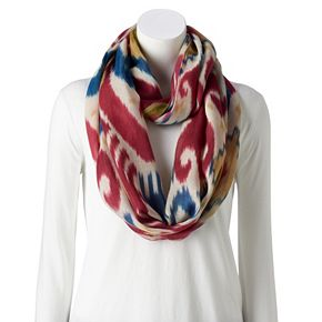 Women's Chaps Painted Ikat Infinity Scarf