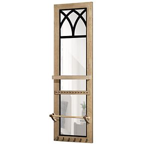 FirsTime & Co. Amelie Arch Over-The-Door Mirror Jewelry Armoire