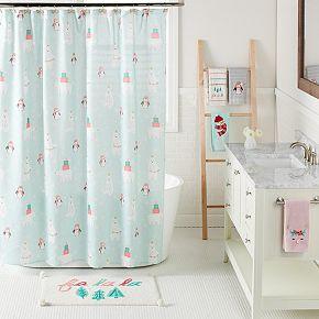LC Lauren Conrad Snow Buddies Shower Curtain