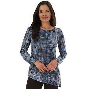 Women's Apt. 9 Fuzzy Slit Panel Jersey Top