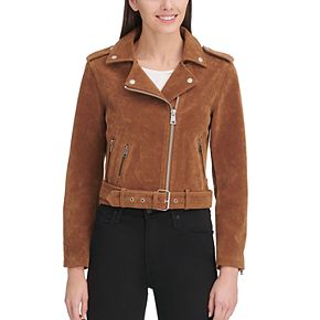 Women's Levi's® Classic Asymmetrical Belted Faux-Suede Motorcycle Jacket