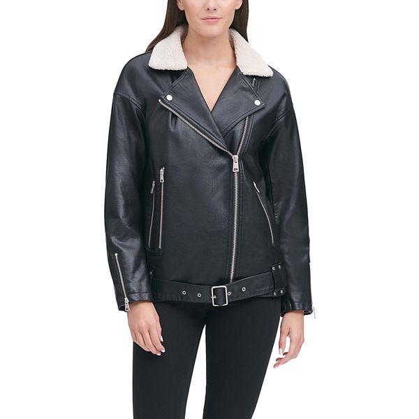 Women's Levi's Sherpa-Lined Faux Leather Moto Jacket