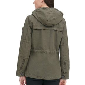 Women's Levi's® Hooded Twill Anorak Military Jacket