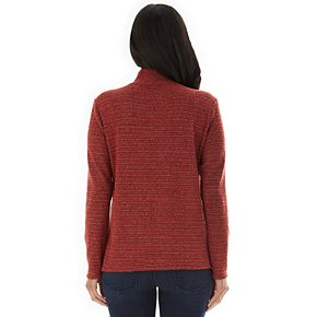 Women's Apt. 9 Asymmetrical Mock-Neck Sweater with Buttons