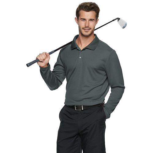 Men's Tek Gear® Long Sleeve Classic-Fit Golf Polo