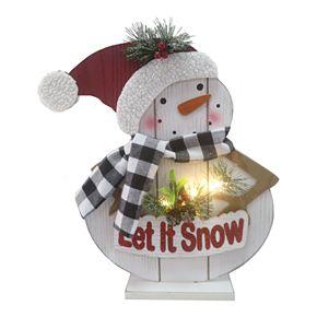 """""""Let It Snow"""" LED Light Up Snowman Decor"""
