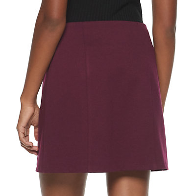 Juniors' Candie's Zip-Up Mini Skirt