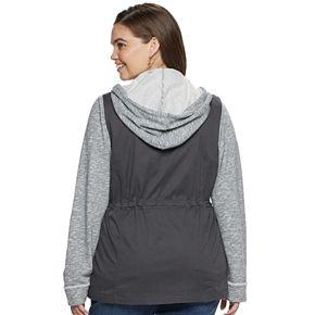 Juniors' SO Knit-Sleeve Utility