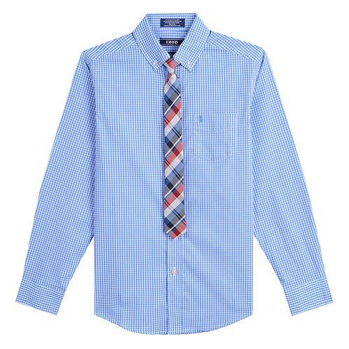 Boys 8-20 IZOD Shirt & Tie Set