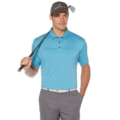 Men's Grand Slam DriFlow Classic-Fit Colorblock Performance Golf Polo