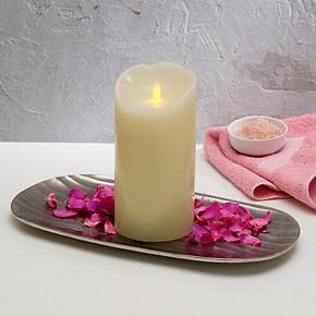 Scott Living Flameless 4'' x 8'' LED Wax Pillar Candle