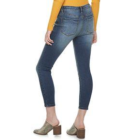 Juniors' Indigo Rein Double Core High Rise Jeans