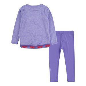Baby Girl Dri-FIT Crossover Tunic Top & Leggings Set
