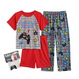 Boys 4-12 Up-Late Top, Shorts & Pants Pajama Set