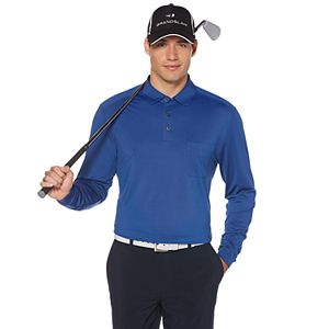 Men's Grand Slam Classic-Fit Long-Sleeve Pocket Performance Polo