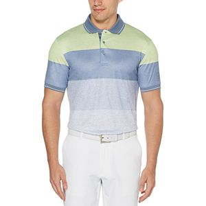 Men's Grand Slam Heritage DriFlow Slim-Fit Colorblock Performance Golf Polo