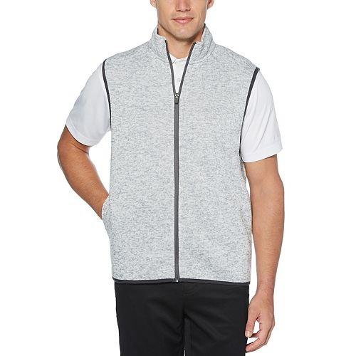Men's Grand Slam Midweight Sweater Knit Fleece Golf Vest