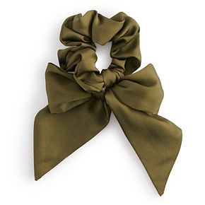 Solid Green Bow Scrunchie
